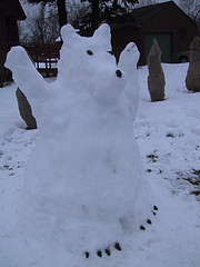 Snow Bear via Flickr Common Comments