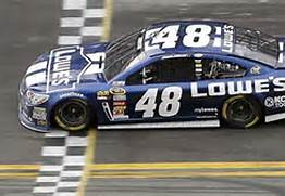 Jimmy Johnson 48 Finish Line