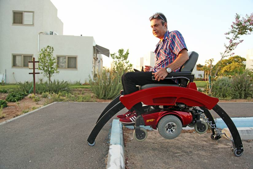 The Step-Up invention will help the wheelchair-bound be more mobile. (Photo: Ziv-Av Engineering)