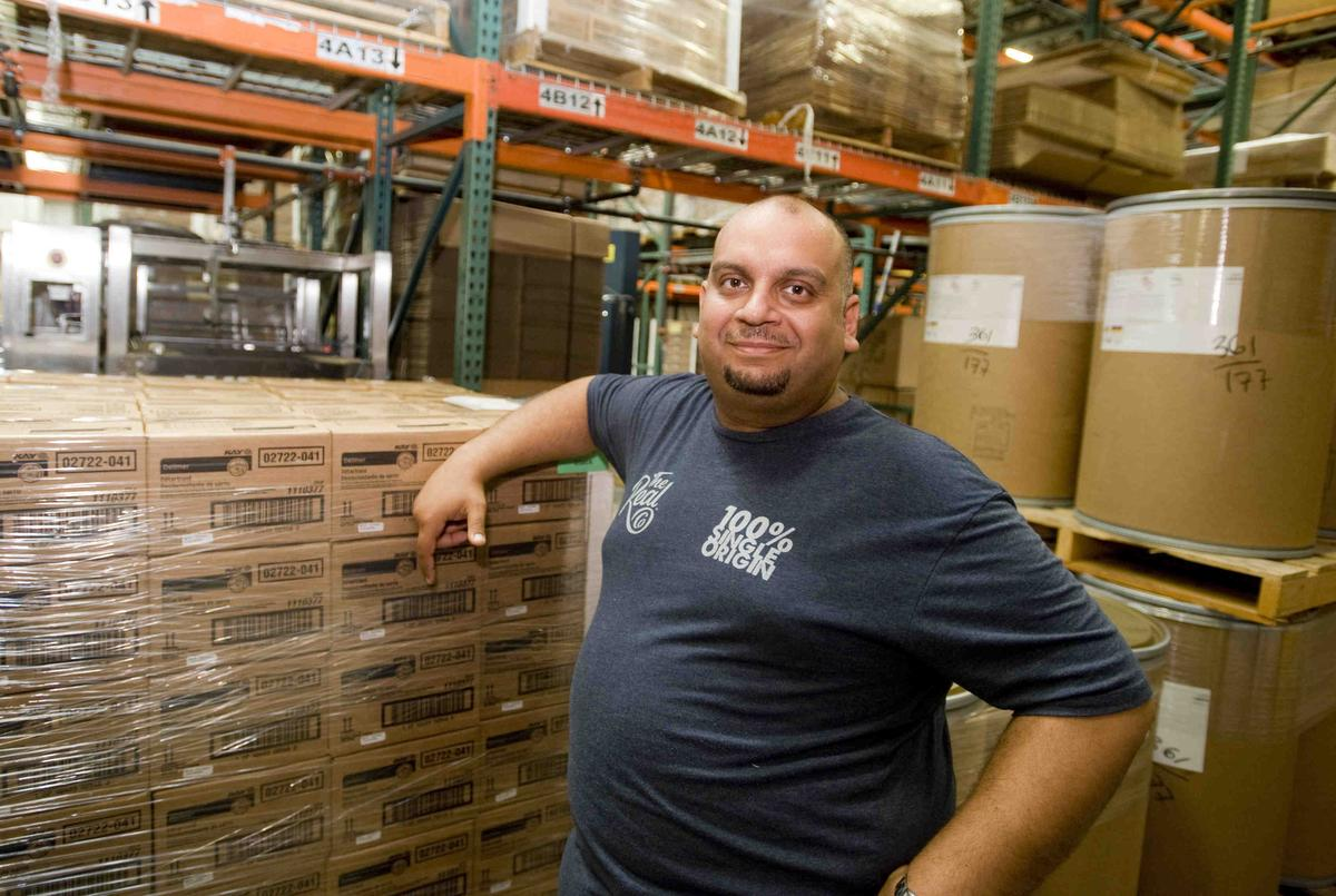 Belal El-Banna is the CEO of The Real Co., which is moving the packaging of its 100% single-origin foods from Chicago t My Cup Counts in Southern California. Photo Credit Sam Gangwer | OC Register.